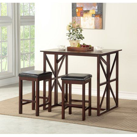 Better Homes Gardens Carrington Drop Leaf Counter Height Dining Set Small Table And Chairs Table And Chair Sets Counter Height Dining Sets