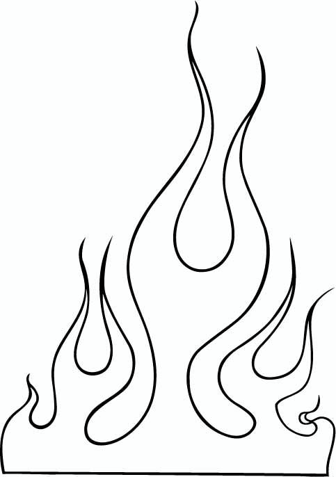 Fire Outline Clip Art Flame Images 10 Flames Tattoo
