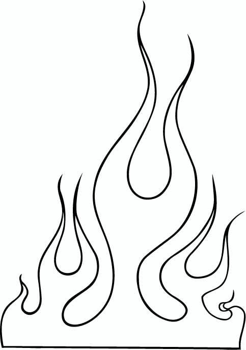 Flammen Schablone Ausdrucken