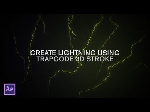 Create Lightning Using Trapcode 3D Stroke! (An Adobe After Effects Tutorial) - YouTube