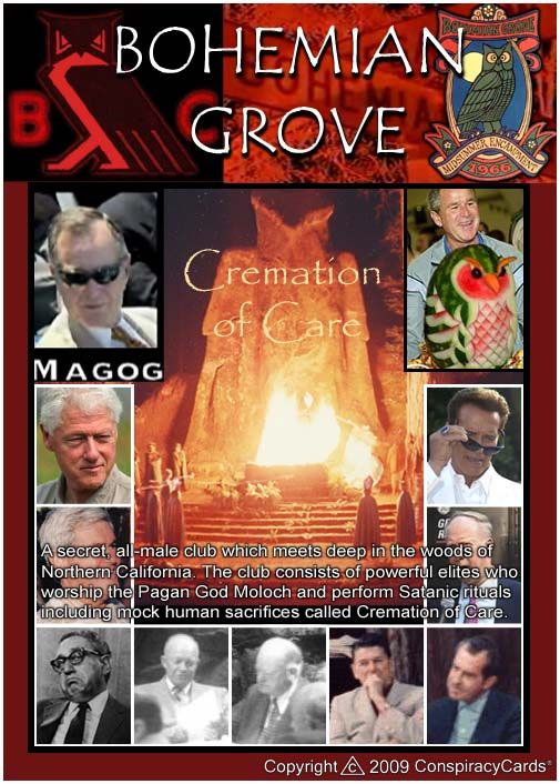 EVERY July, US Presidents, World Leaders, Corp. Heads and Other 'Heads' of State, Attend The 'Bohemian Grove'