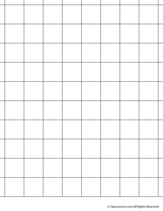 Printable Graph Paper and Grid Paper 1 Inch Grid Paper \u2013 Classroom