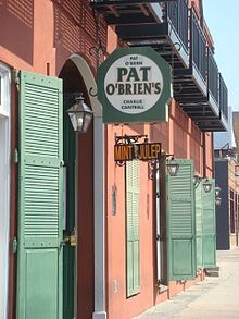 "Pat O'Brien's on St. Peter Street, French Quarter, New Orleans    Inventer of the ""Hurricane"" drink"