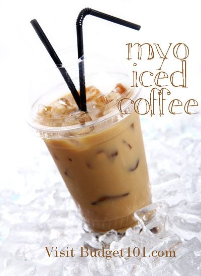 Make Your Own Iced Coffee Concentrate - lasts in the fridge for a few weeks!  Perfect Starbucks alternative!