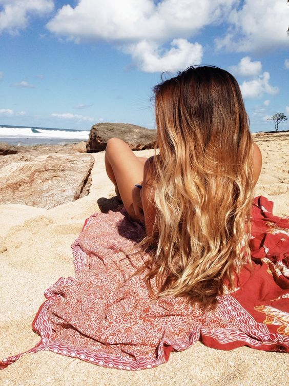 This is how my hair will turn out in a couple months! All cause I'm growing my roots out so it has that more natural look to it.