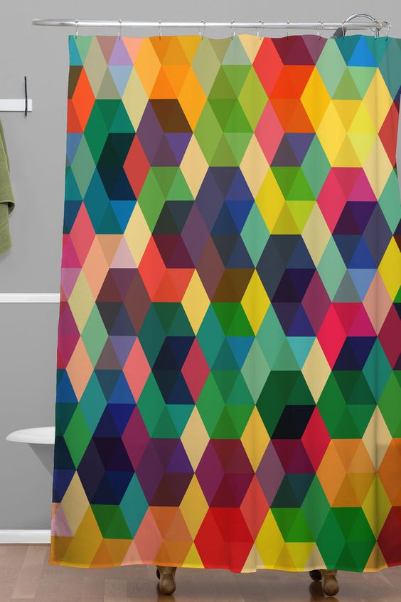 Fimbis Hexagonzo Shower Curtain | DENY Designs Home Accessories