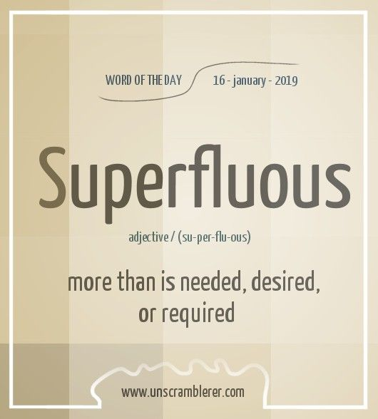 Superfluous Uncommon Words Words Interesting English Words