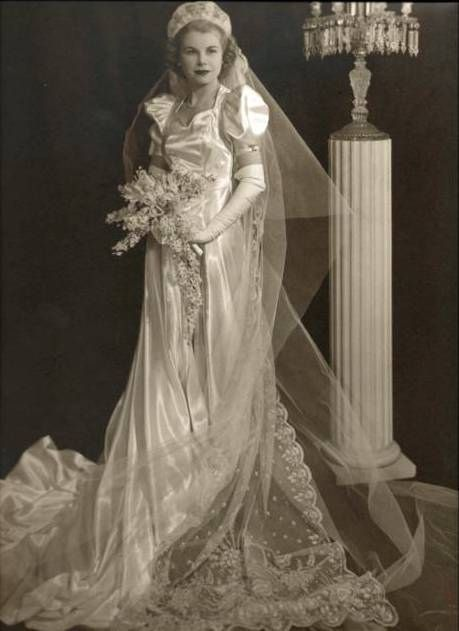 Charlotte on her wedding day 1939 vintage weddings for Grandmother dresses for summer wedding