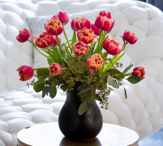Nothing will brighten your day like a gorgeous arrangement of tulips! Show your love with flowers today!!!