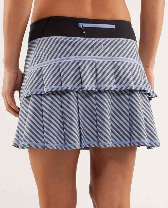 Stripes and ruffles work out skirt