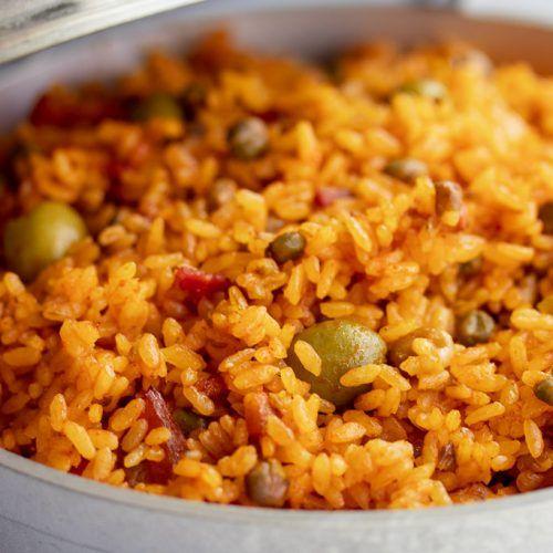 Arroz Con Gandules Puerto Rican Rice With Pigeon Peas Recipe Kitchen De Lujo Recipe Pea Recipes Arroz Con Gandules Boricua Recipes