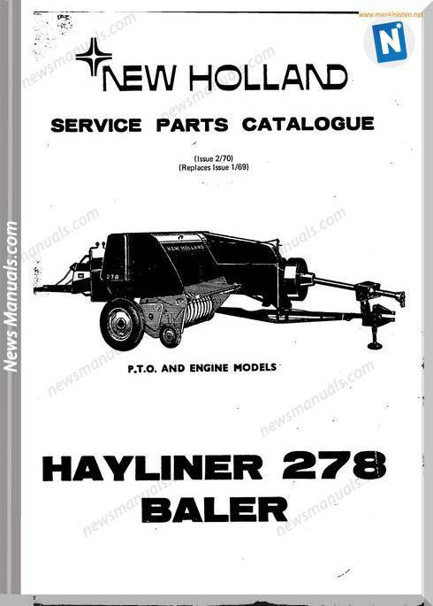 New Holland 278 Small Baler Parts Sec Wat New Holland Parts Catalog Holland