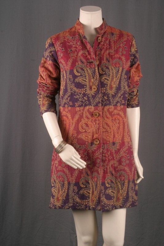 Nehru Jacket Coat Rust Red Brown Blazer Victorian by sparrowlyn, $74.00