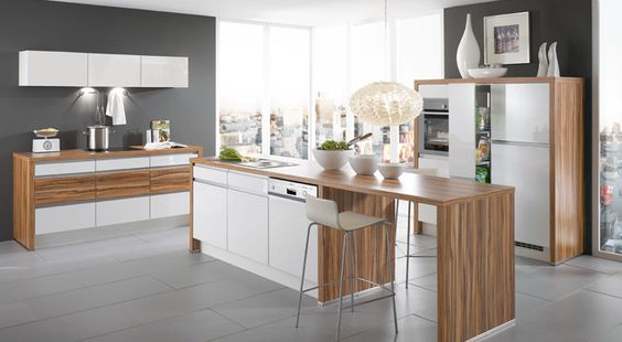Kutchenhaus primo white high gloss zebrano kitchen for Kitchen ideas zebrano