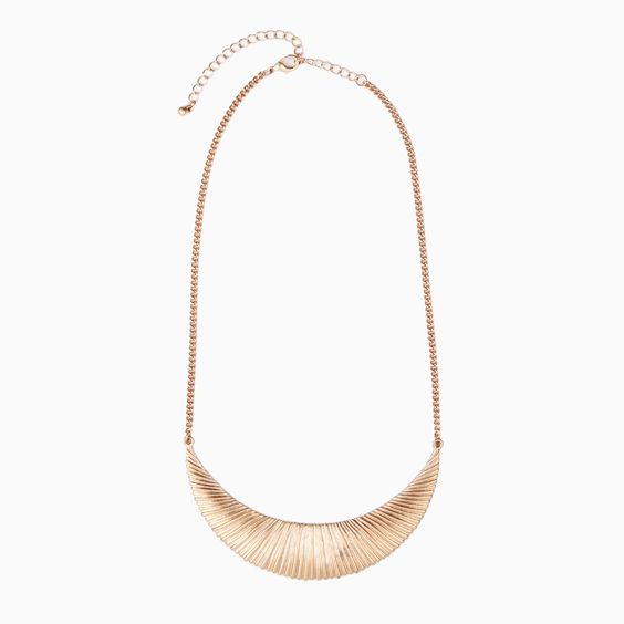 Striated Moon Necklace