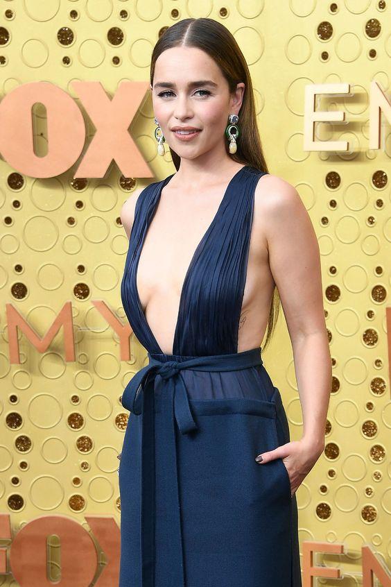 Image result for emilia clarke emmy dress