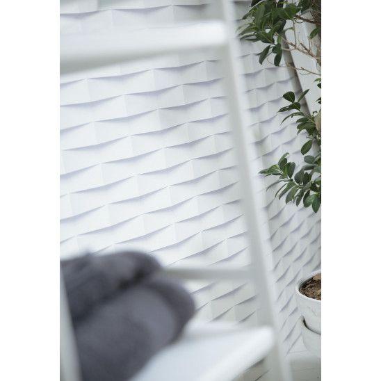 Revetement Element 3d Bricks Lambris Pvc Blanc Decoration Blanc Revetement