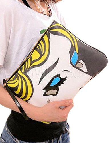 Yellow Cartoon Characters Print PU Leather Woman's Clutch Bag on Chiq http://www.chiq.com/milanoo/yellow-cartoon-characters-print-pu-leather-womans-clutch-bag