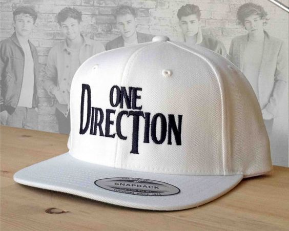 1D logo Snapback embroidered hat from One Direction custom hat.  Beatles Style 1D Snap Back