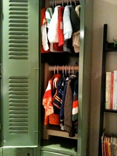 clothes in a locker