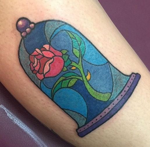 Love this enchanted rose tattoo   Beauty & the Beast ...