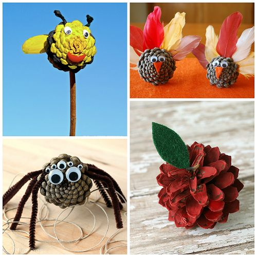 For kids pine and search on pinterest for Pine cone crafts for children