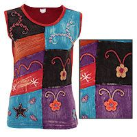 Pretty!!!  : )-  Stained Glass Embroidered Tank Top at The Animal Rescue Site