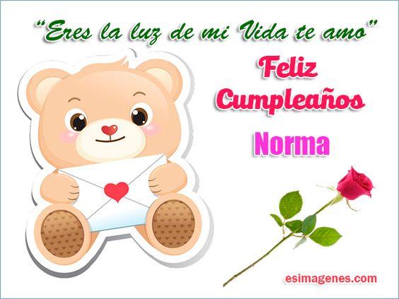 Feliz cumpleaños Norma - Imágenes Tarjetas Postales con Nombres | Feliz…
