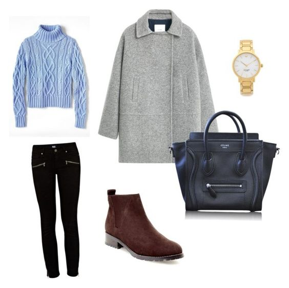 """""""Untitled #46"""" by fashionkid-1 on Polyvore featuring Blondo, Paige Denim, MANGO, Lands' End, CÉLINE and Kate Spade"""