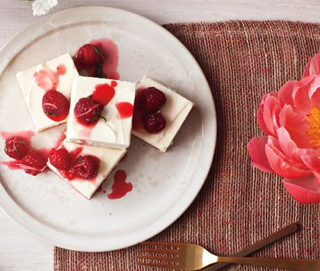 Cheesecake with Ginger-Lime Candied Raspberries Recipe at Epicurious ...