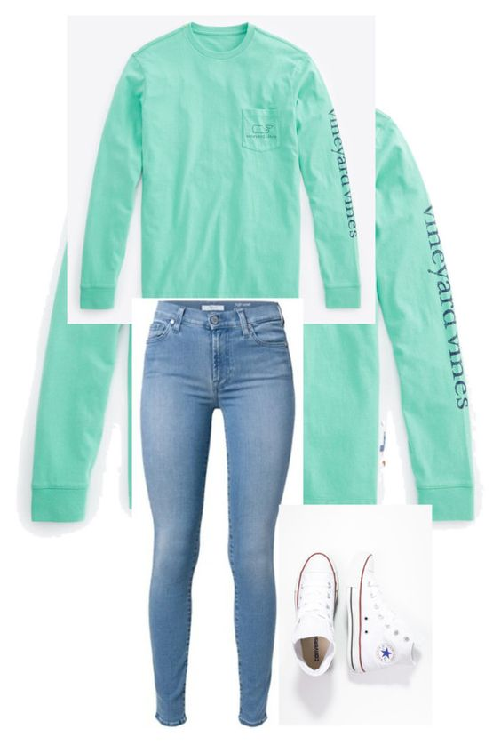 """""""follow me on Instagram ' @wavy.perra"""" by kelley-32 on Polyvore featuring Vineyard Vines and Converse"""