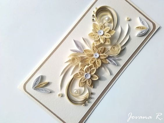Card wedding  Quilling...