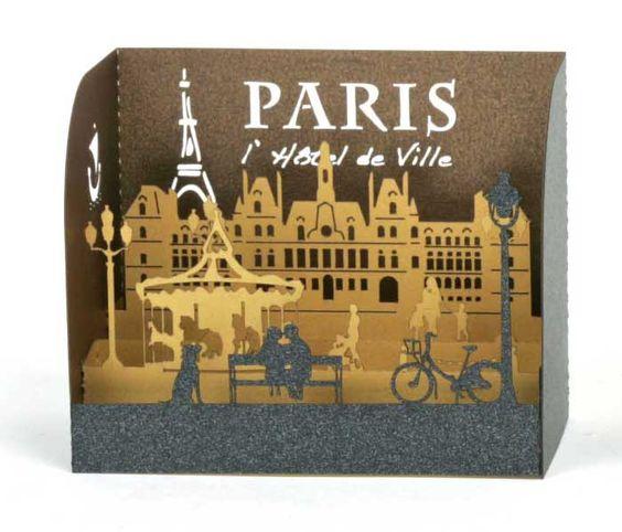 """#idea 3d siluetas Collection """"les mini boîtes"""" PLI-HOP, un petit objet plein de charme et de poésie !"""