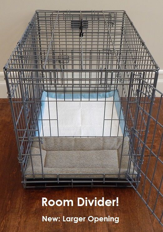 High Quality This Is The Only Type Of Dog Crate In The World That Includes Our Patent  Pending ROOM DIVIDER™ Which Is The Key Element In Making This A Potty Traiu2026