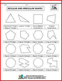 Best ideas about Regular And Irregular Shapes, Shapes Regular and ...