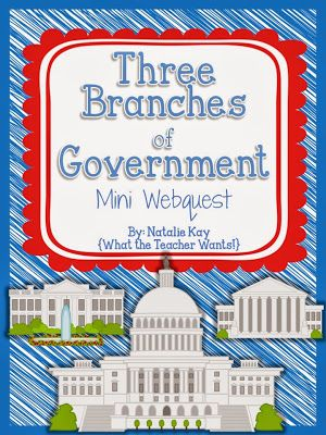 Mini Webquest - Three Branches of Government - What the Teacher Wants!