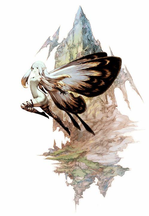 蝶々の羽の妖精のff14画像