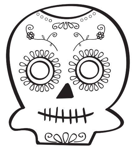 Calaveras del Día de los Muertos para colorear. La puedes descargar en  http