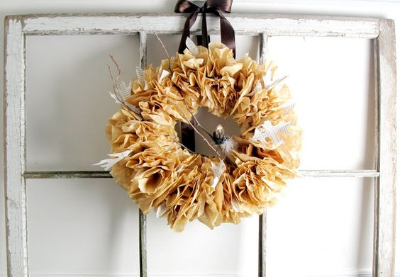 Craftberry Bush: A moment of clarity...coffee filter wreath