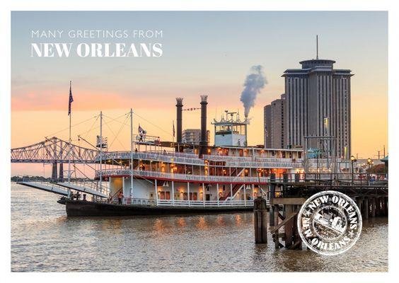 New Orleans – Raddampfer | Urlaubsgrüße | Echte Postkarten online versenden…