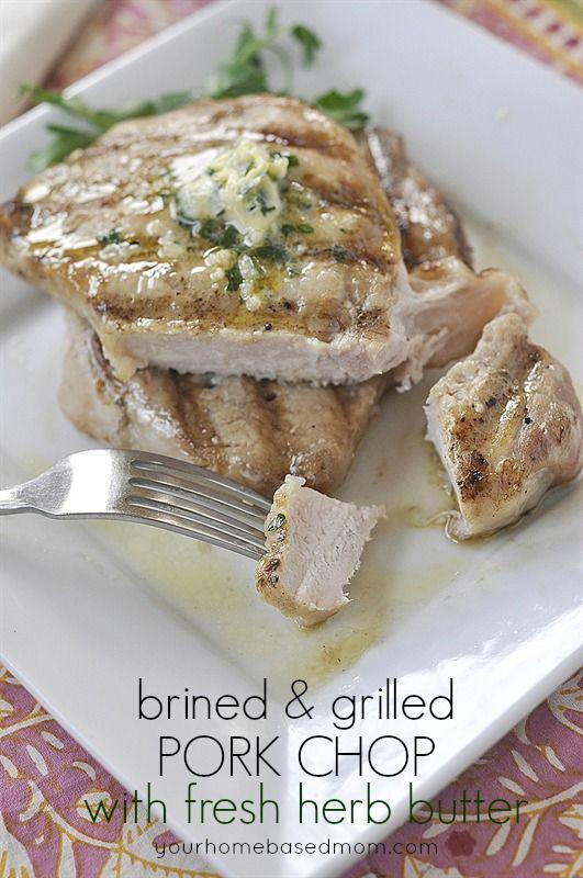 ... grilled pork chops grilled pork fresh herbs pork chops pork herbs