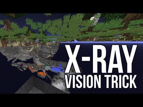 Working X Ray Vision Minecraft Youtube Minecraft Amazing Minecraft X Ray