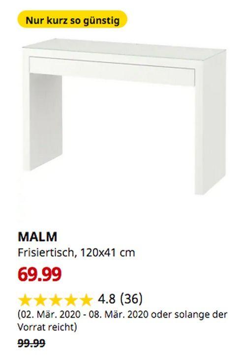 Ikea Frankfurt Malm Frisiertisch Weiss 120x41 Cm In 2020 Malm
