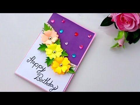 Beautiful Handmade Birthday Card Birthday Card Idea Youtube Handmade Birthday Cards Happy Birthday Cards Handmade Birthday Card Craft