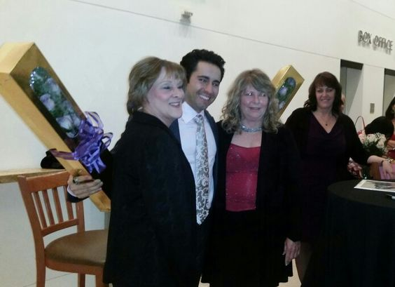 Presenting roses to John Lloyd Young  from all of his 25 JLY Angels 2015
