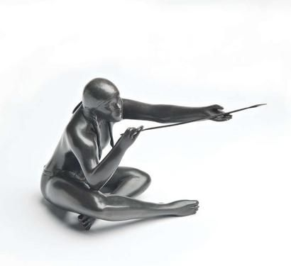 Beautiful sculpture by blind artist Michael Naranjo.