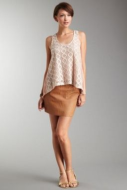 Costa Blanca Two Pocket Leather Skirt