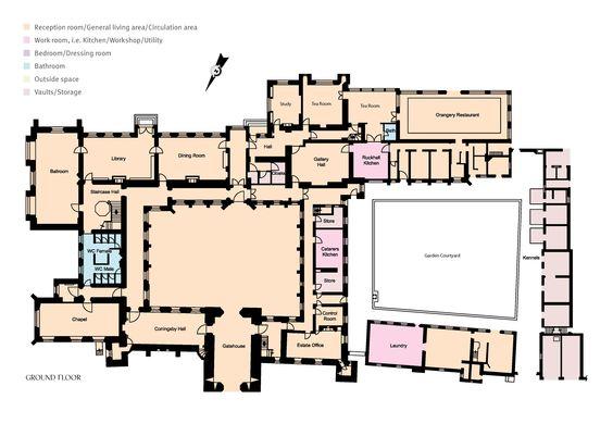 Hamptoncourt Herefordshire Floor Plans Castles