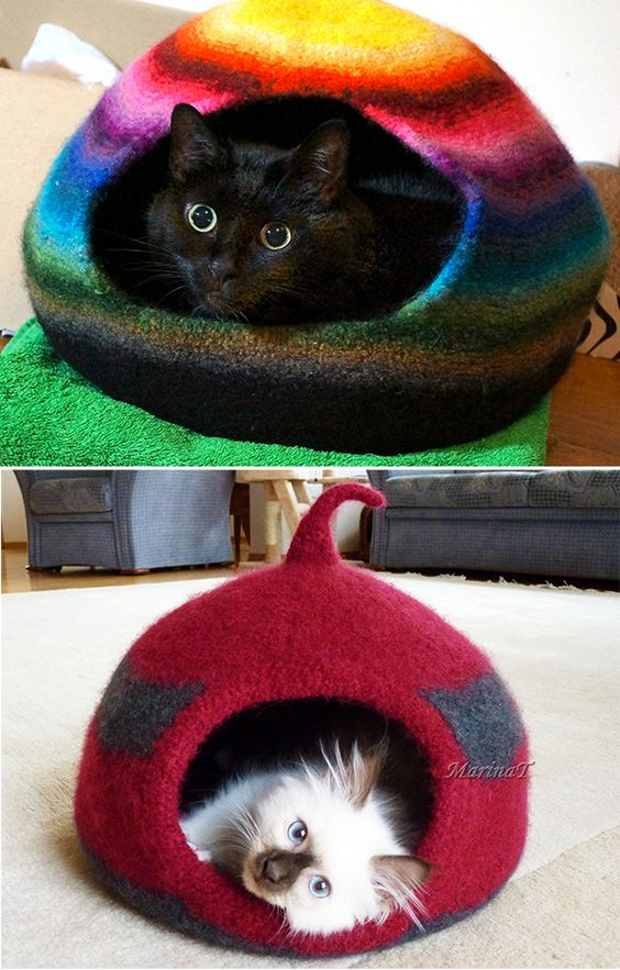 Free Knitting Pattern For Cat Cocoon Knitted Cat Cat Bed Pattern Crochet Cat Bed