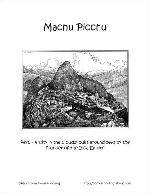 machu picchu coloring page - coloring the o 39 jays and coloring pages on pinterest